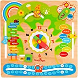 Legnoland-37328 Calendario Didattico, Multicolore, 37328