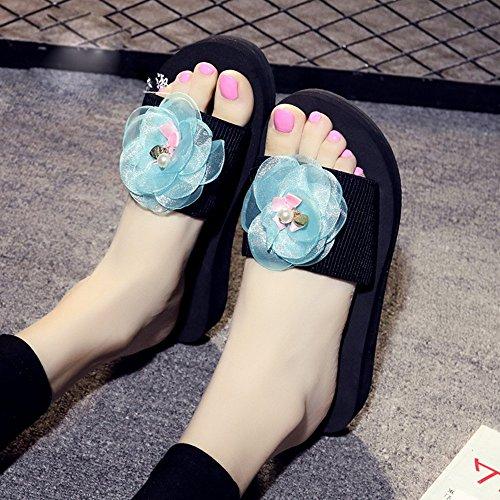 Cailin Sandals, Sandales antidérapantes à la mode d'été Chaussons épais et épais pour une plage de sable de 18 à 40 ans ( Couleur : #3 , taille : 41 ) #5