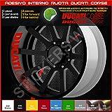 Tiras de pegatinas para las llantas de las ruedas Ducati Monster Multistrada Hypermotard en un único color Código 0227 031 Rosso