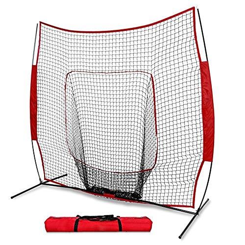 Baseball- / Softball-Schlagnetz, Pitching-Maschine, 7 x 7 Zoll mit tragbarem Aufbewahrungsbeutel Faltbare ideale Trainingshilfe für Schlag- und Pitchingübungen (Pitching-maschine Baseball Für)
