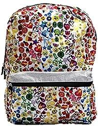 """Emoji All Over Print 16"""" Full Size Front Pocket Backpack - Kids"""