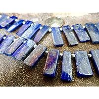 Blau Afghanischer Lapis Lazuli mit pyrite Beilagen   Drilled Sticks, durchschnittliche Größe mit 15x 7.5-mm  ... preisvergleich bei billige-tabletten.eu