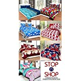 Stop N Shopp Super Home Combo Set Of 7 Grace Cotton King Size Double Bedsheet With 14 Pillow Covers