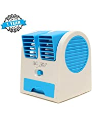 Ionix Imported Mini USB Fragrance Air Cooling Fan Portable Desktop Dual Blower Bladeless Air Cooler - Assorted Color