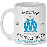 Mug OM personnalisé - Mug olympique de Marseille - cadeau anniversaire - cadeau de noël