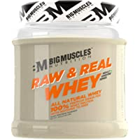Bigmuscles Nutrition Raw & Real Organic Whey Protein[480g] - Natural, 80% Protein, Additive Free, Unflavored, 24g Protein ,5.5g BCAA , 4g Glutamine per serving