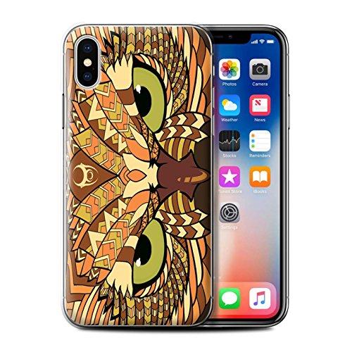 Coque de Stuff4 / Coque pour Apple iPhone 5C / Loup-Bleu Design / Motif Animaux Aztec Collection Hibou-Orange