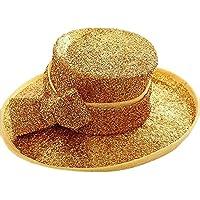 Yiwuhu Casquillo del Sombrero del cáñamo de la Etapa Sombrero del Partido del Banquete Casquillo de Oro de la Primavera del Verano Hairc. Simple