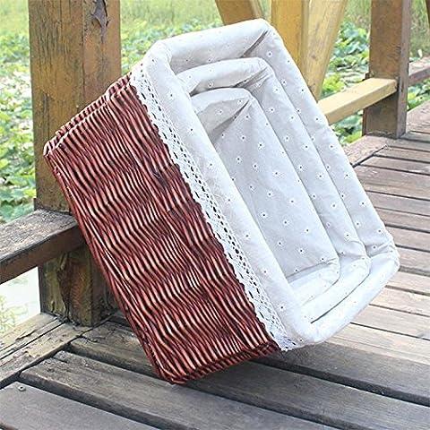 GUO-Deposito pastorale casella Liubian deposito boxToy cestino abbigliamento trapunta set