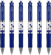 6 Pcs Office Business Neutral Pen Kugelschreiber Wasserschreiber Kugelschreiber Schreibwaren,0.5 mm Blau