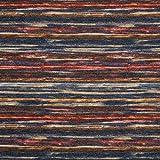Fabulous Fabrics Strickstoff Kuschelige Streifen – blau — Meterware ab 0,5m — zum Nähen von Pullovern, Strickjacken und Strickpullovern