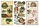 Decoupage Papier Pack (12 blatt A4 / 20x30cm) Weihnachten Christmas Santa Gift D?cor FLONZ Vintage Retro