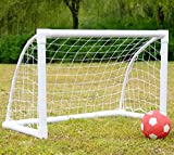 iisport Off-Road RC Monstertruck Eléctrico objetivo de fútbol para niños–50mm de diámetro PVC marco red de portería de fútbol portátil para Patio W/4piquetas de acero y bolsa de transporte, 4'x 3', mujer, 4x3 foot