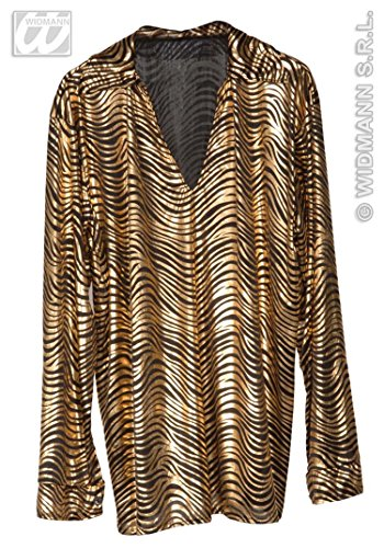 WIDMANN 70er Disco Fever Shirt Herren gold XL