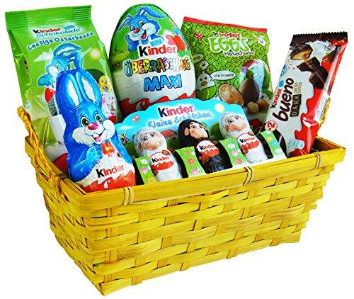 Geschenk Set Osternest mit Ferrero Kinder Spezialitäten (6-teilig) Fertige Osternest