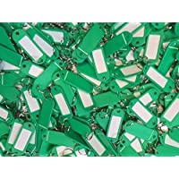 SBS Llave carteles   verde   llavero con etiqueta, para escribir, 12unidades)