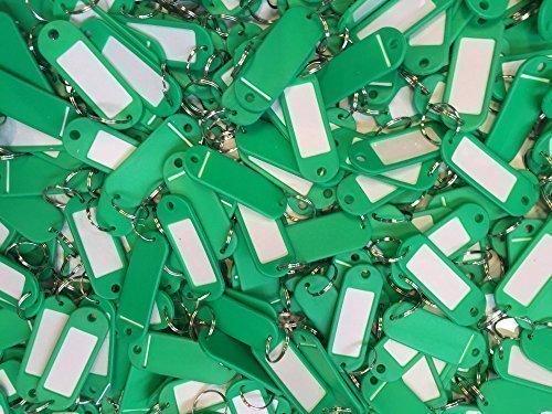 SBS Schlüsselschilder | Grün | Schlüsselanhänger mit Etikett | zum beschriften | 12 Stück