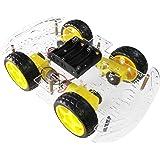 The perseids DIY Smart Motor Robot Kit Car Chassis, 4WD Chasis Robot Coche Kit con Encoder de Velocidad para Arduino (Cuatro