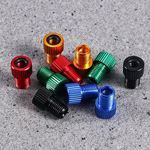 WINOMO Fahrrad Ventil Adapter 10 Stücke Aluminium PRESTA SCHRADER Konverter Auto Fahrrad Schlauchpumpe Kompressor Werkzeuge - 9