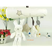 P S Retail Rabbit Baby Music Hanging Bed Safety Seat Plush Toy - Multi Color