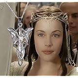 Féeries et meravigliilles - Collana Arwen, il Signore degli Anelli, stile reglico Arwen, colore: Argento