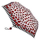 Lulu Guinness Lip Stripe - Plegable  rojo Red