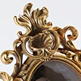 Giftgarden barocker Bilderrahmen im Format 10x15cm goldener ovaler Fotorahmen - 6