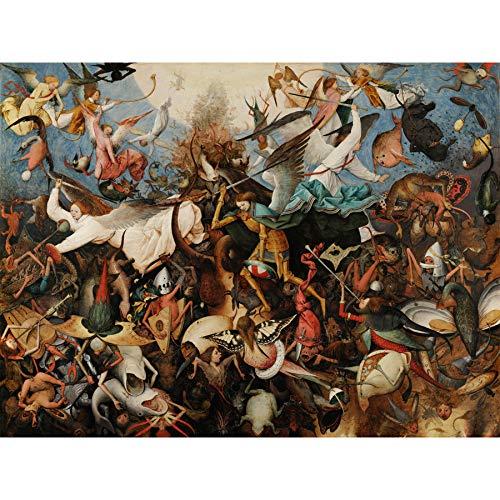 La Angels Fall (Pieter Bruegel The Elder The Fall of The Rebel Angels Extra Large Wall Art Print Premium Canvas Mural Wand)