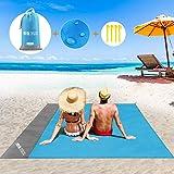 BALCONY&FALCON Telo Spiaggia Antisabbia, Telo da Mare Grande Coperta da Spiaggia Portatile Telo Spiaggia Impermeabile con i P
