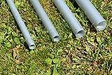 DEKOVALENZ Bodenanker aus Aluminiumrohr für Balifahnen-Teleskopstangen, Größe:30 mm x 995 mm