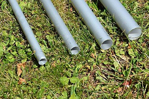 DEKOVALENZ Bodenanker aus Aluminiumrohr für Balifahnen-Teleskopstangen, Größe:15 mm x 995 mm