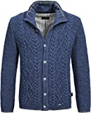 GIESSWEIN Strickjacke Bob - Herren Jacke aus 100% Wolle, Futter aus Baumwolle, Trachtenjacke, Janker, Zopf Strick Muster, Schurwolle, Weste