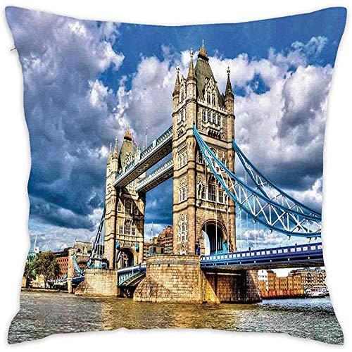 Funda de Almohada London Historical Tower Bridge on River Funda de Almohada...