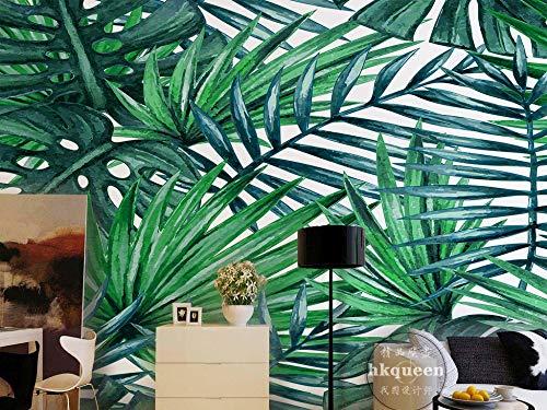 Wandbild Tapete Mittelmeerlandschaft Minimalistische Grüne Blätter Blätter Tv Sofa Hintergrund Wand Wohnkultur Benutzerdefinierte Beliebige Größe