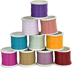 Embroiderymaterial Nylon Thread for Beading Jewellery and Craft Making Combo Pack