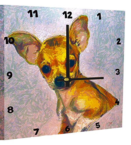 chihuahua-belle-grande-horloge-mural-par-doggylips