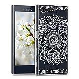 kwmobile Étui transparent en TPU silicone pour Sony Xperia X Compact en blanc transparent Design Fleurs