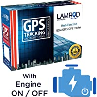 LAMROD Supreme PRO Car/Bike GPS Tracker with Engine ON/Off Function & Lifetime SMS Tracking Subscription