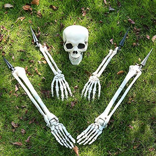 Halloween Skelett Simulierte Menschliche Skelettverzierungen Realistische Skelett Einsatz Skelett Kriechen Aus Rasen Outdoor Perfekte Halloween Dekoration Und Gartendekoration