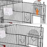 Yahee Vogelkäfig Sittichkäfig Voliere Vogelhaus für Papagei Wellensittich - 5