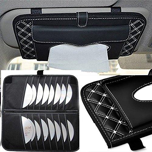 Sonnenblenden-organizer , Sonnenblende Tasche , Kleenex-Box und geeignet für 16 CDs, Auto CD Aufbewahrung