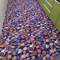 WXDD 3D la Alfombrilla, salón, Puerta de Entrada, Hall de Entrada, Hall de Entrada, Felpudo, Pasillo, escaleras y alfombras Pueden Personalizarse,1,2 m-1 Metros,Piedra Azul Rollo