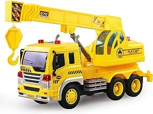 Kinder, die Toys Musik Licht sanitärem Truck, mamum Auto Kran LKW Fahrzeug Spielzeug Reibung powered Baumeister Maschine mit Licht & Musik &