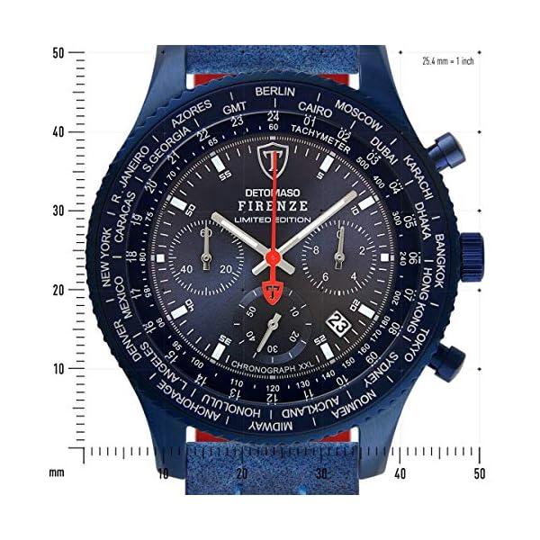DETOMASO Firenze XXL All Blue Limited Edition Reloj de pulsera para hombre,