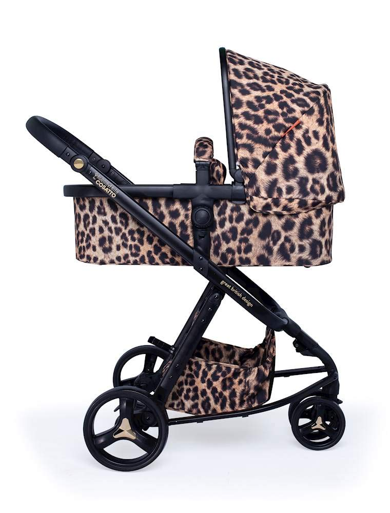 Cosatto Paloma Faith Giggle Pram and Pushchair Hear Us Roar - Leopard Print Cosatto Giggle 3 is your classic nippy 3-wheeler, lightweight but sturdy and super easy to use The from-birth carrycot, (suitable for occasional overnight sleeping), converts to pram mode Reversible pushchair unit when they're ready to sit up 1