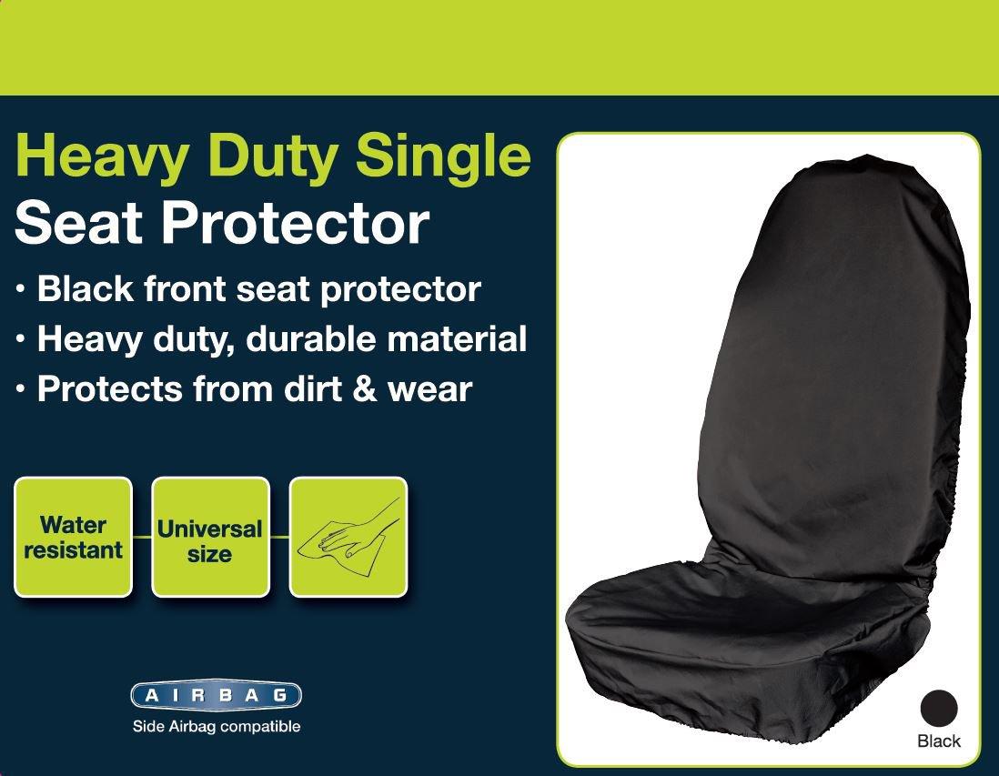 Sakura Heavy Duty Single Seat Protector Black Amazoncouk Car Motorbike
