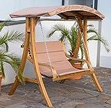 ASS Design Hollywoodschaukel MERU HM101 aus Holz Lärche inkl. Abdeckung von Farbe:Belize ohne Regenschutz
