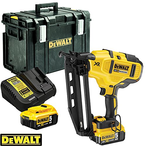 DeWalt-DCN660N-18V-XR-Brushless-60mm-Second-Fix-Nailer-With-2-x-5Ah-Batteries-Charger-DS400-Case