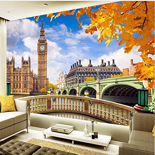 Wandbild Tapete London Big Ben Gebäude Landschaft 3D Wohnzimmer Sofa Tv Hintergrund Fotowand Papier Home Decor Malerei