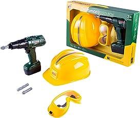 MAJOZ 6St Werkzeugsatz Kinder Elektrowerkzeuge Koffer Spielwerkzeug Werkzeugkoffer Elektrowerkzeuge